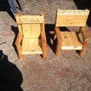 Rustic Log Children's Chair From Reclaimed Wood