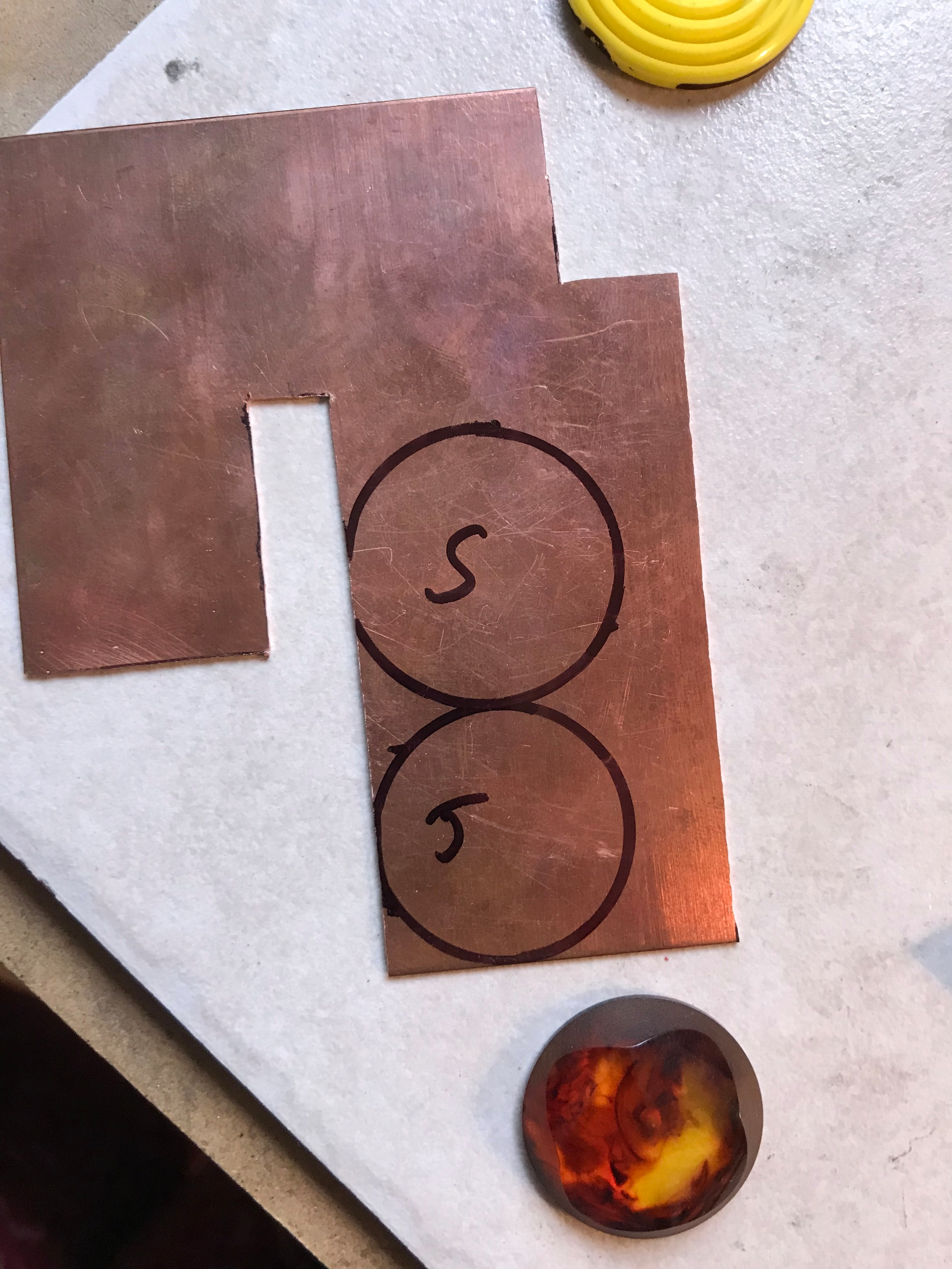 Picture of Cutting the Bezel Bases