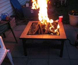 PUMP ME UP AIR patio fire place