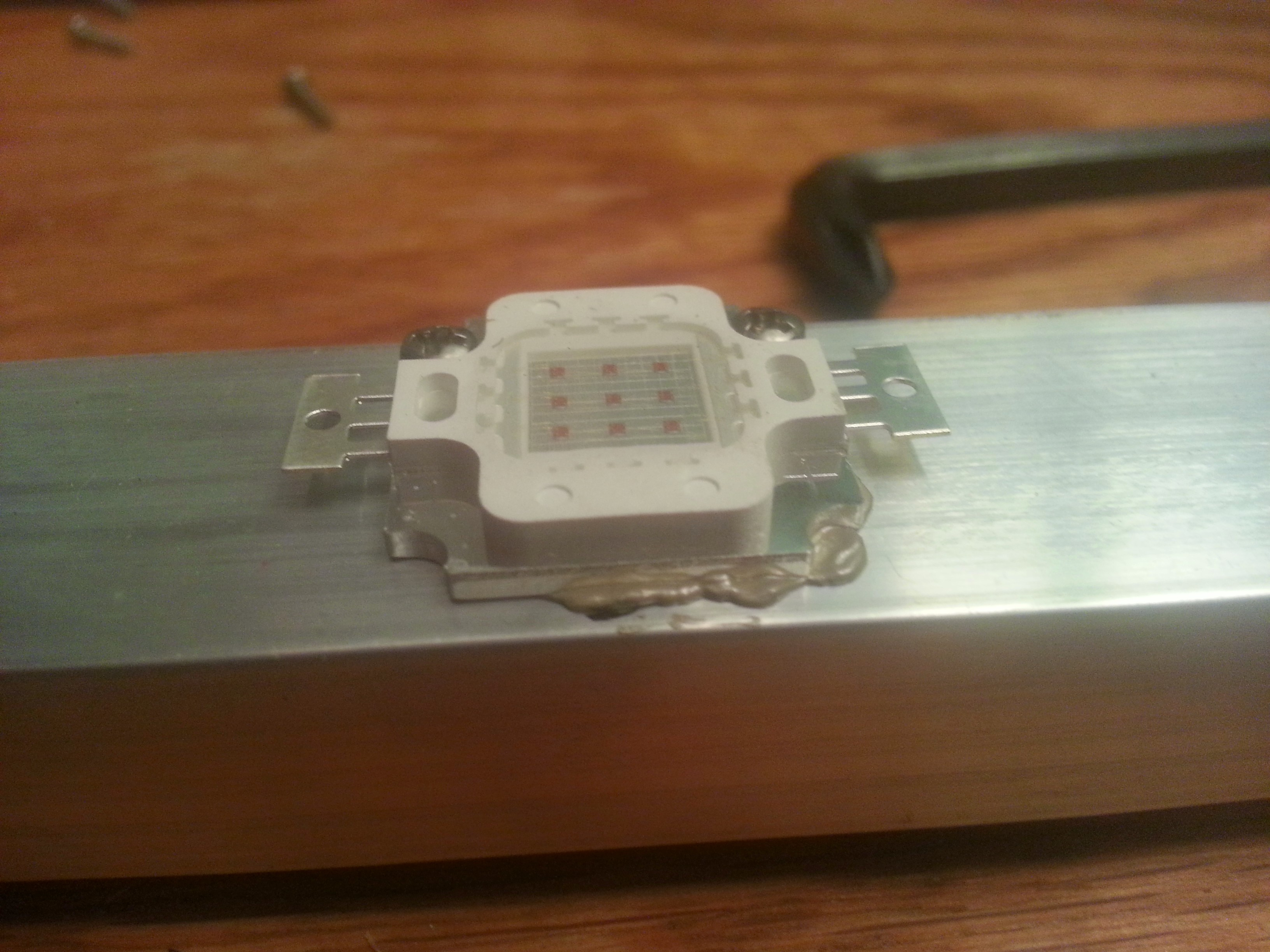 Picture of Attach LEDs + Driver