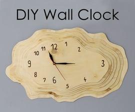 DIY Tree Ring Shaped Wall Clock