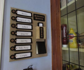 Make your own dinner planner menu board!