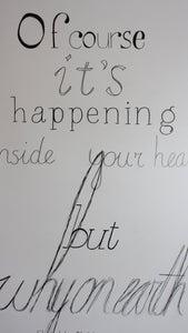 Hand-drawn Typography Wall Art