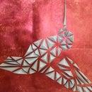 3D Paper Mosaic : the Colibri