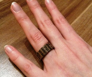 Newspaper Valentine's Ring