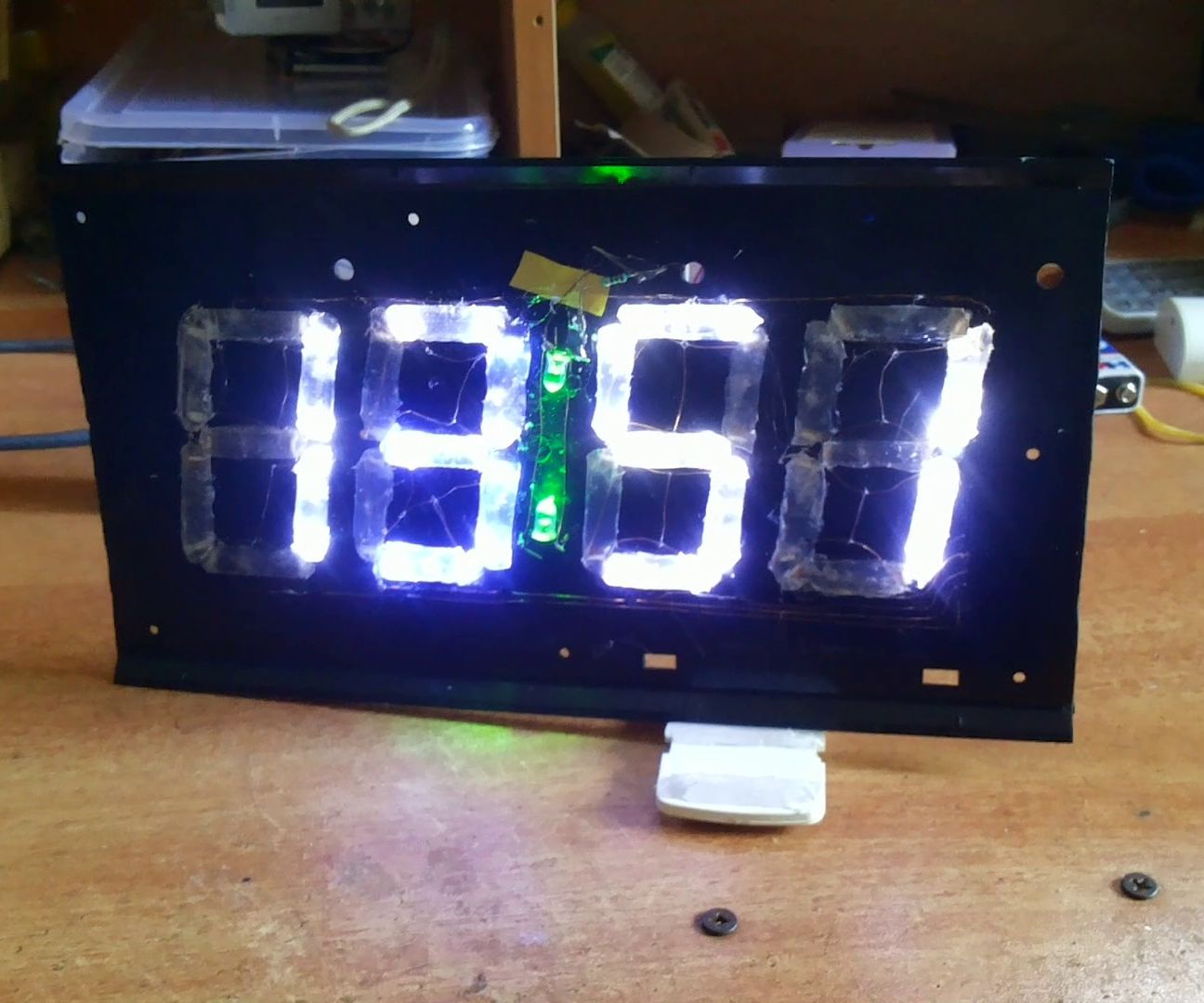 Bluetooth Led Alarm Clock 7 Segment Display From Trash 4 Steps For Beginners Digital With 7segments And Rtc