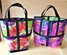 Upcycled Food Packaging Tote Bag