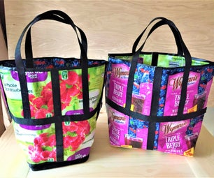 Upcycled Food Packaging Tote Bag