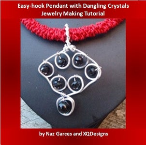 How to Make Easy-hook Pendant With Dangling Crystals