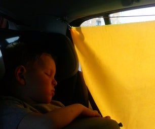 Sun Blinds for the Child in the Car