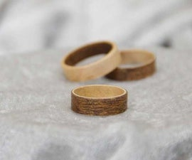 Make Wood Rings (No tools required)