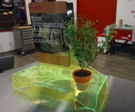 UV Printed Wood and Acrylic Display Stand