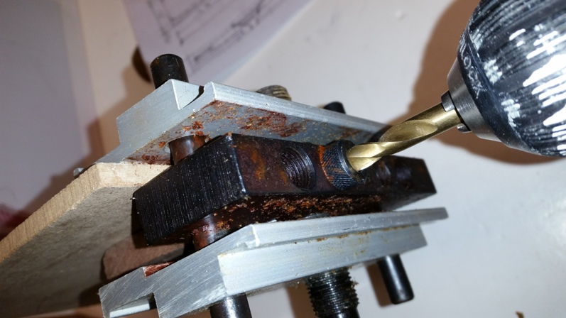 Picture of Drilling the Holes for the Darts