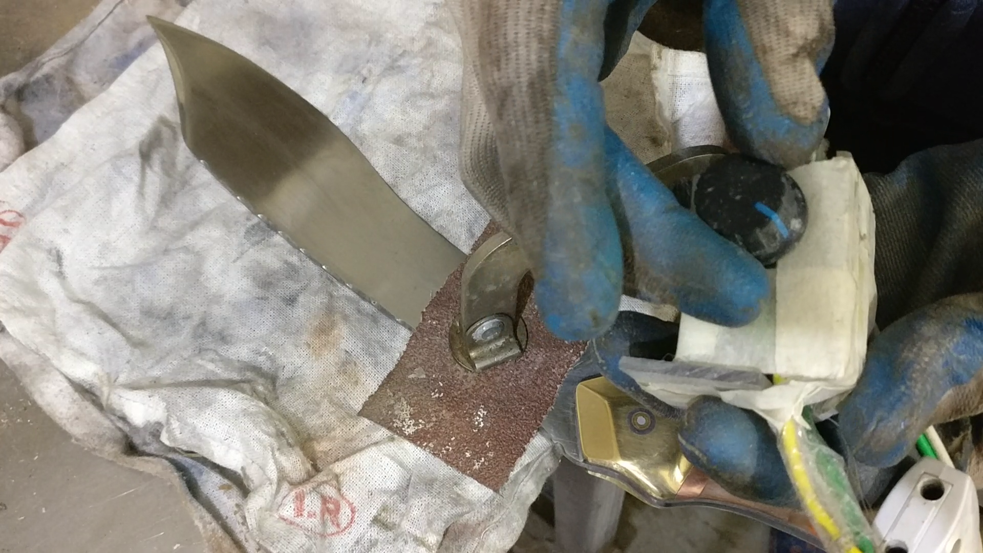 Picture of ​Buffing and Finishing the Knife.