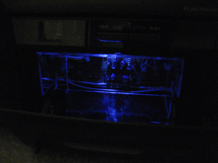 Picture of MAKE a COMPARTMENT WHERE THE CASSETTE TAPE MECHANISM EXISTED