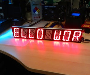 Emma: an 8-digit Alphanumeric LED Display Powered by Electric Imp