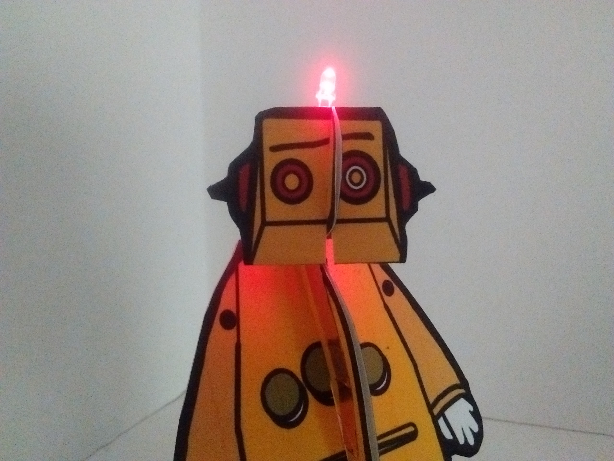 Picture of Blinky Paper Robot - 1st Paper Circuit Project