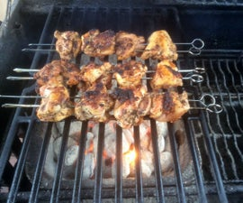 BBQ (Bacon-coated) Chicken Kababs