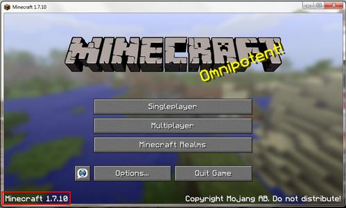 Checking Your Minecraft Version