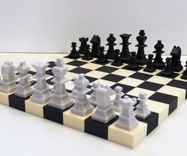 Styrofoam Chess Game CNC Hot Wire Cutted