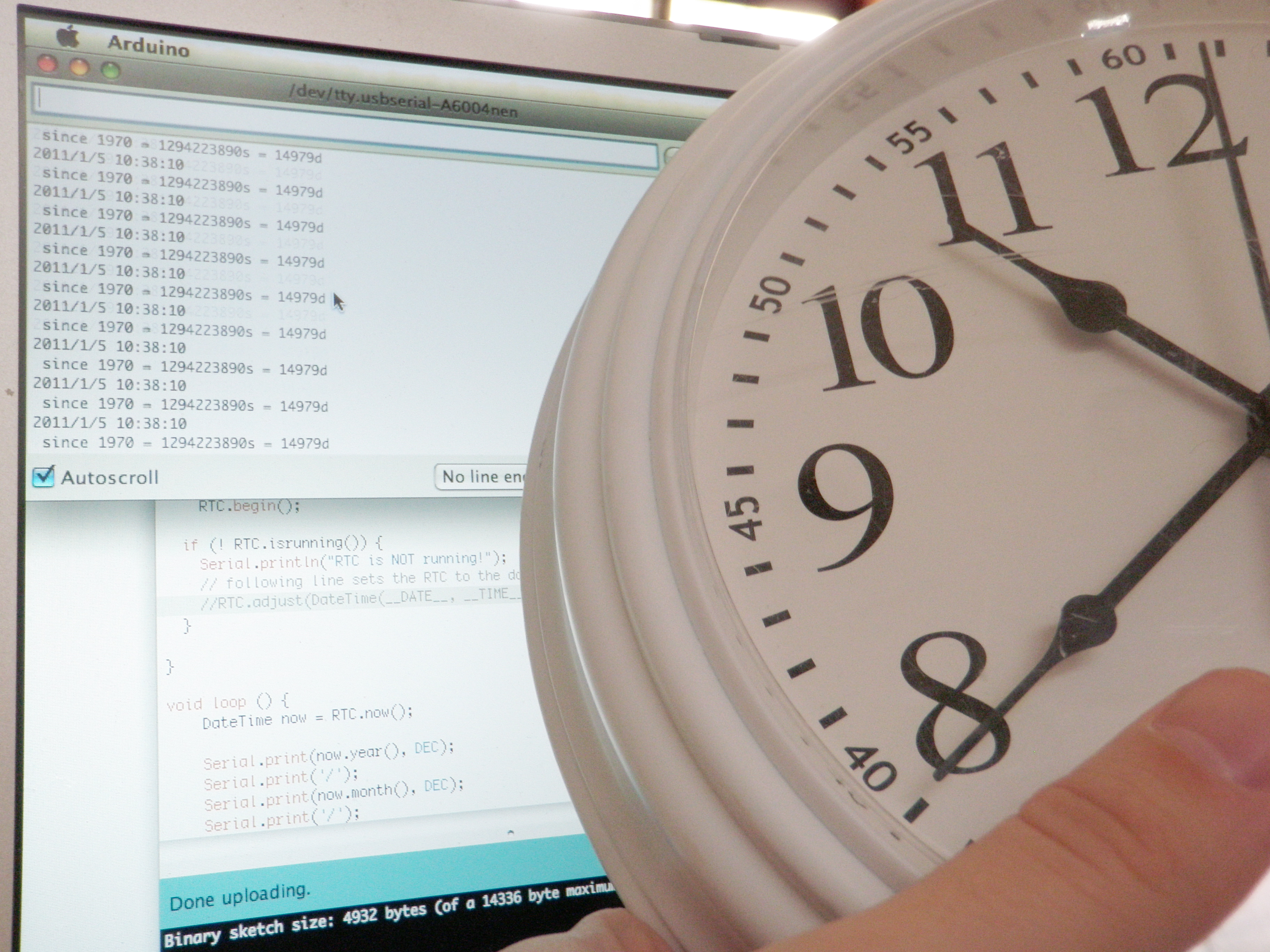 Picture of Synchronize the Clocks
