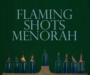Flaming Shots Menorah