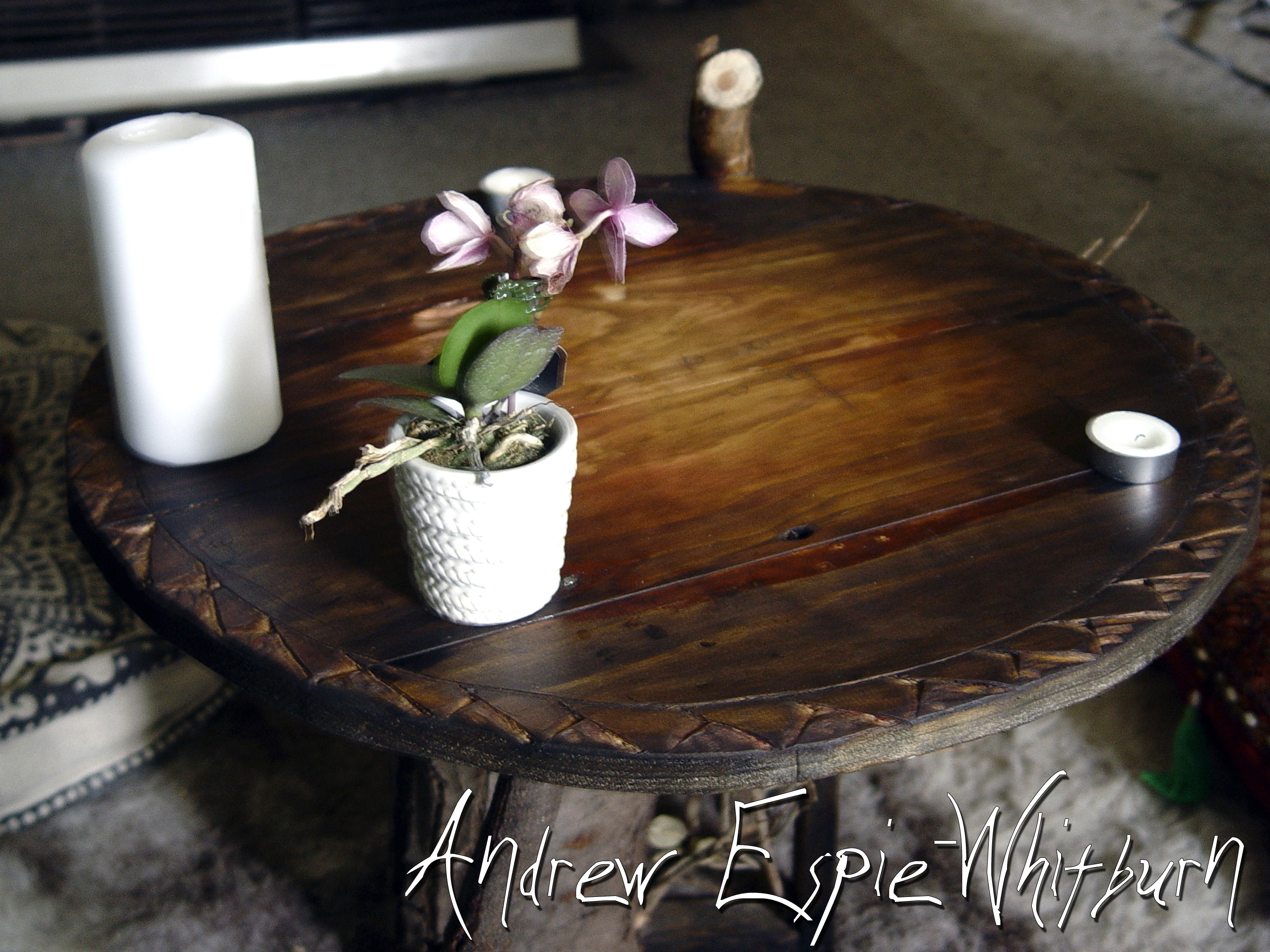 Picture of Log and Stick Reclaimed Wood Coffee Table