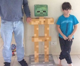 Life-Sized Minecraft Armour Stand