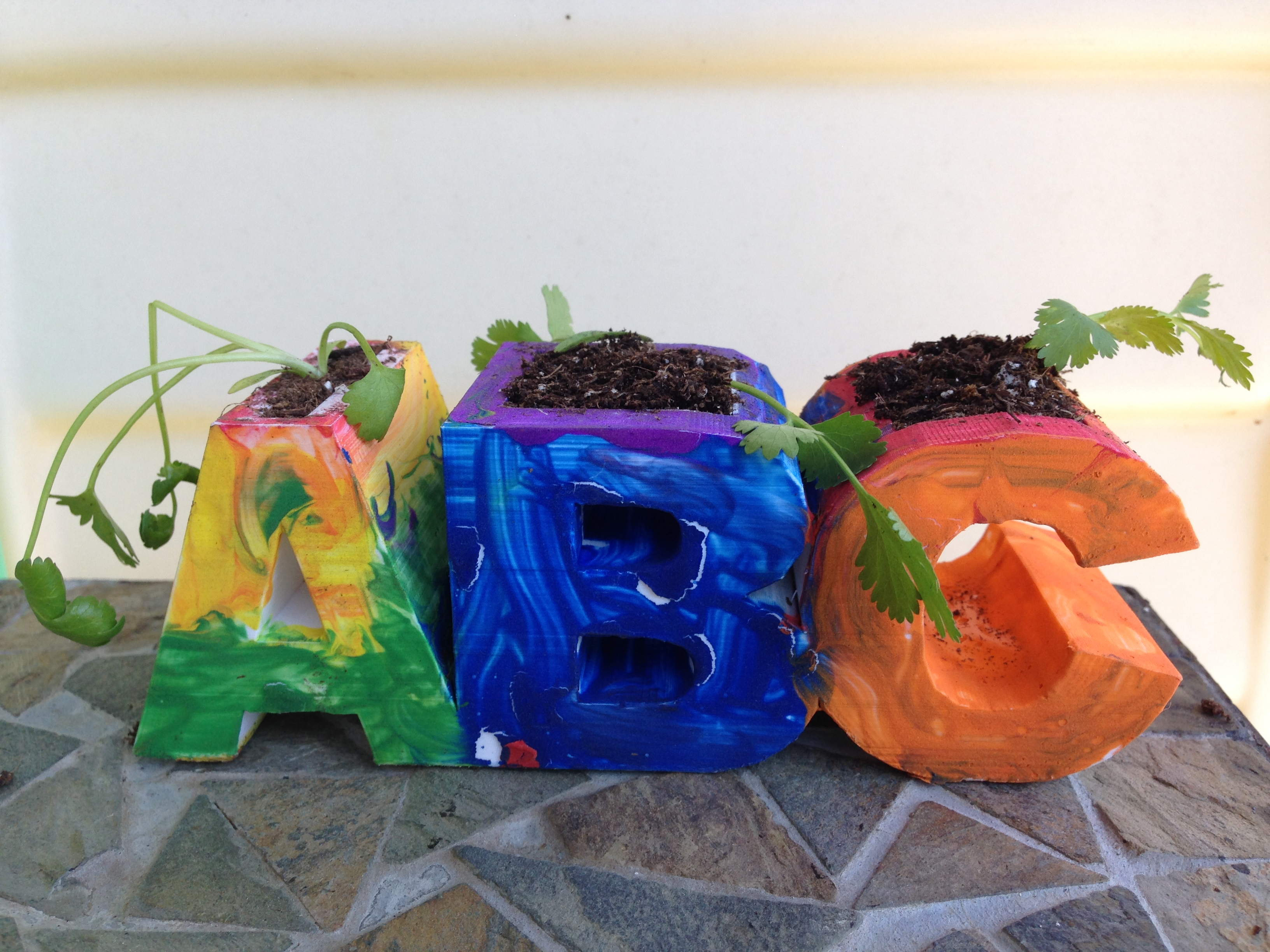 Picture of 3D Printed ABC Planter