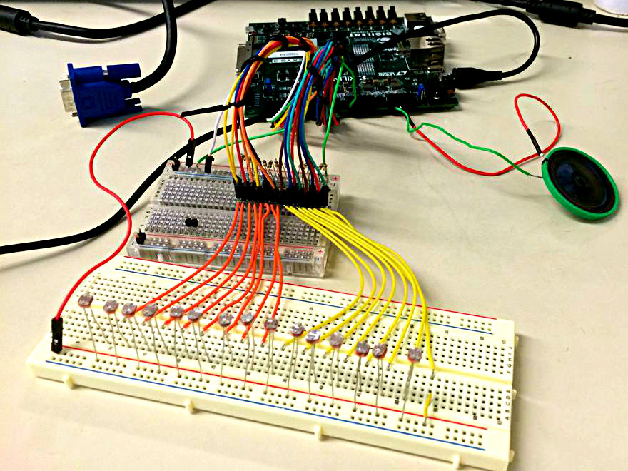Picture of VHDL Photosensitive Synth Machine