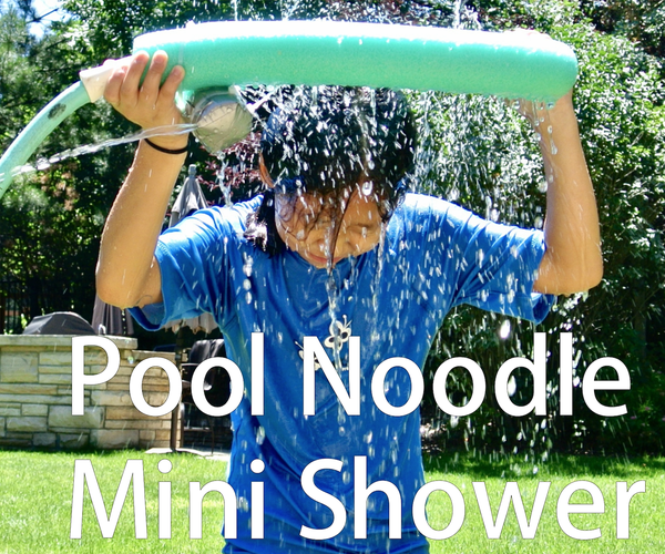 Use a Pool Noodle As a Mini Shower