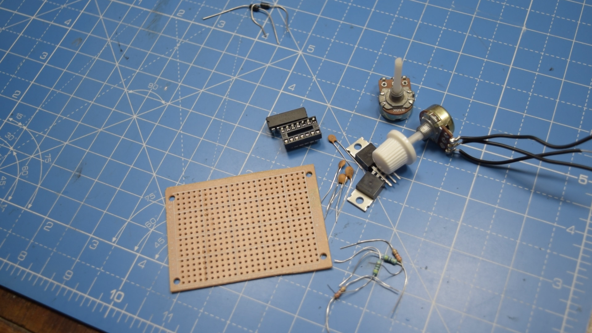 Picture of Gather the Components for the Dimmer Circuit and Solder!!