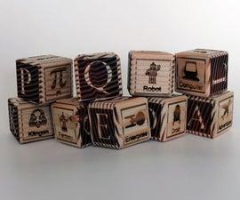 Laser-etched Baby Blocks