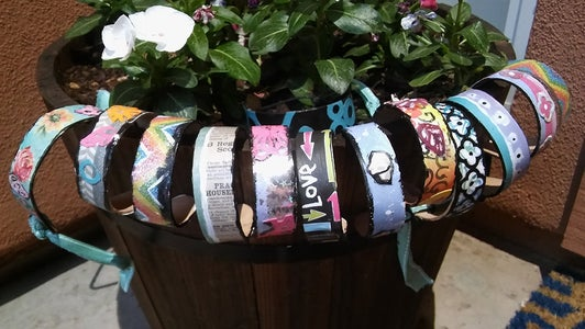 How to Make Popsicle Stick Bracelets - Kids Crafts- DIY Jewelry