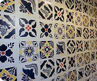 Faux Talavera Tile Backsplash