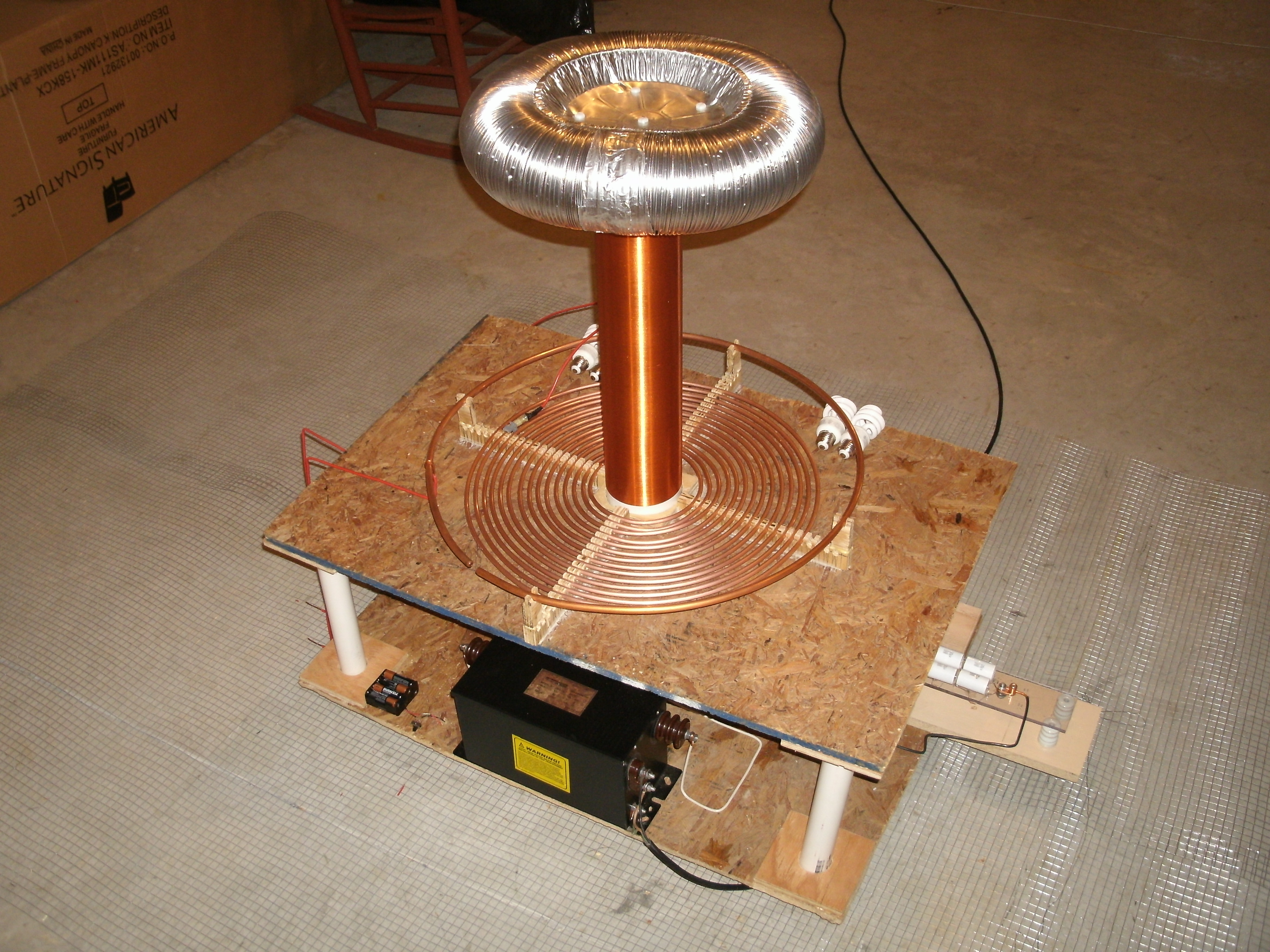 Picture of Building a Tesla Coil in 9 Easy Steps!