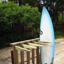 Armazón para surfboards de materiales desechados
