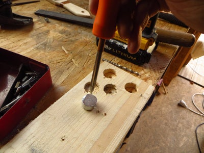 Drilling and Finishing the Stops