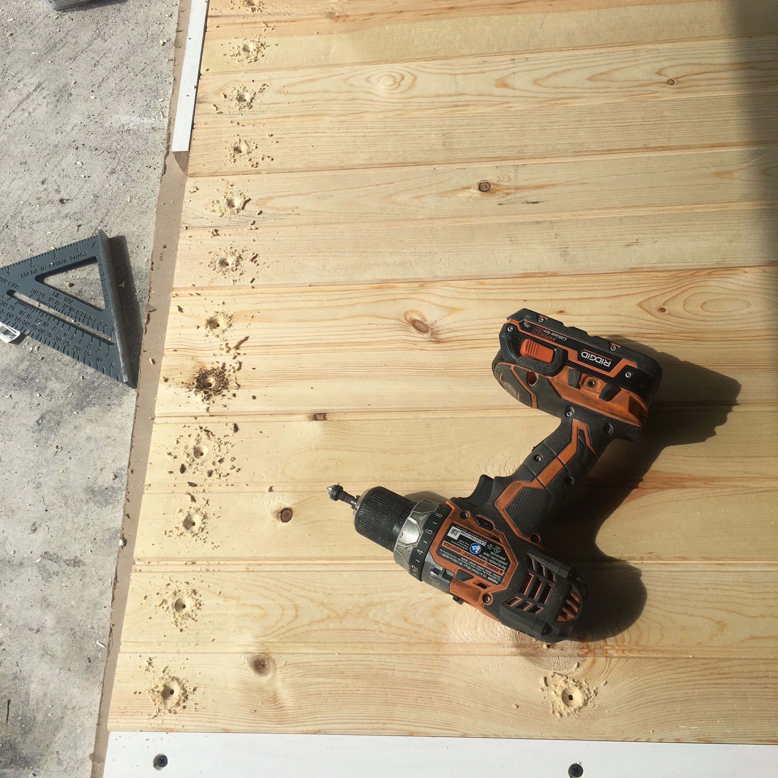 Picture of Drill Pilot Holes and Countersink Holes