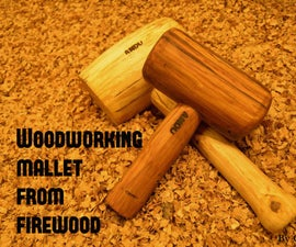 Woodworking mallet from firewood