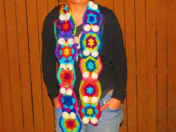 Awesome Stash-Busting Owl Scarf