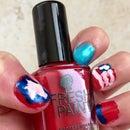 Independence Day Nail Art. Beginner Nail Art