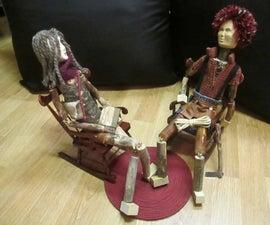 Martin the Lumberjack & his friend Rebecca - Theatre Dolls