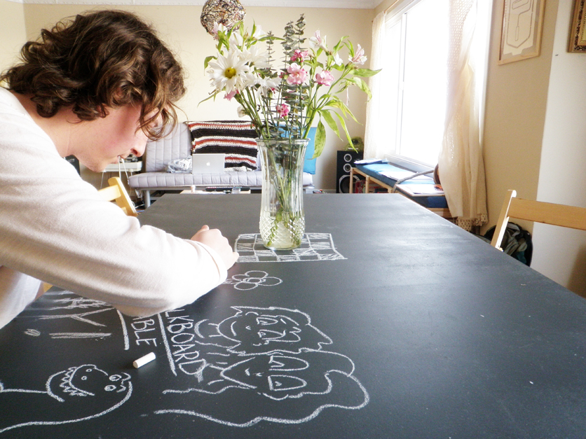 Picture of Chalkboard Table