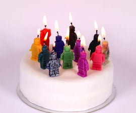 Custom-Made Wax Candles (Cast using Sugru Moulds)