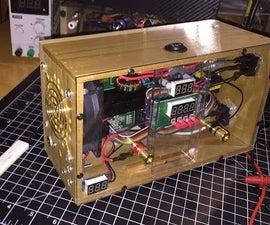 DIY High Voltage 8V-120V 0-15A CC/CV Small Portable Adjustable Bench Power Supply