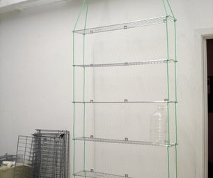 Scavenged Portable Hanging Shelves