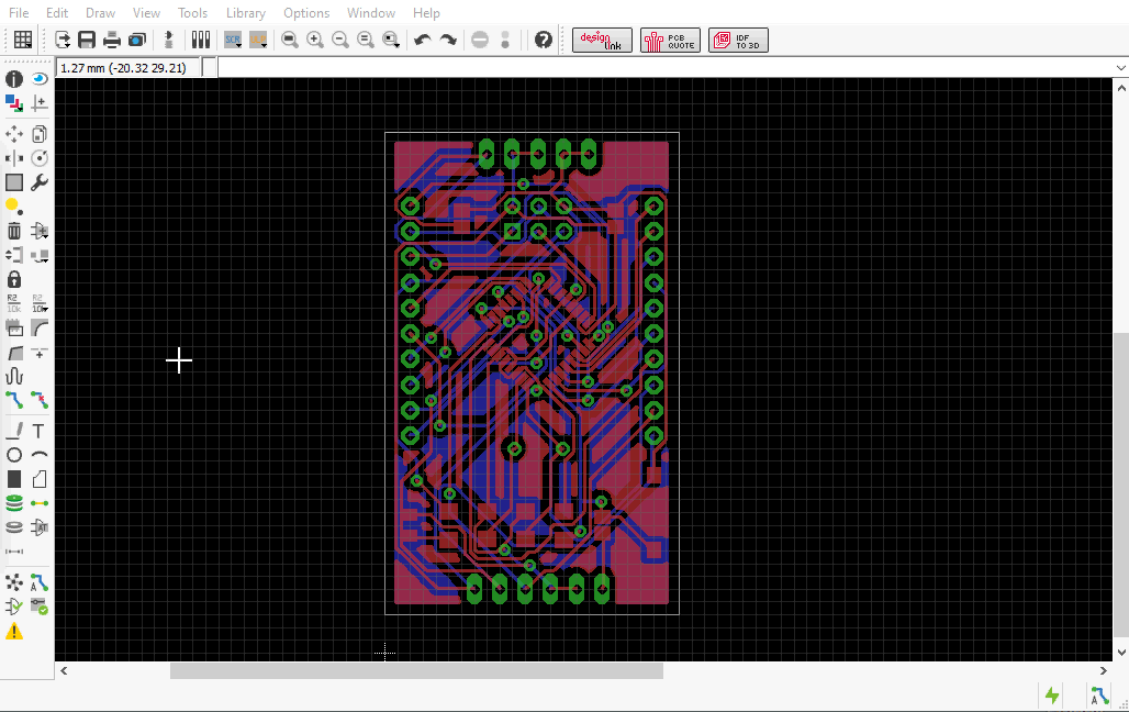 Picture of Designing of the PCB Layout