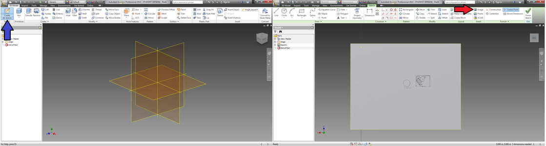 Importing the Image to Inventor