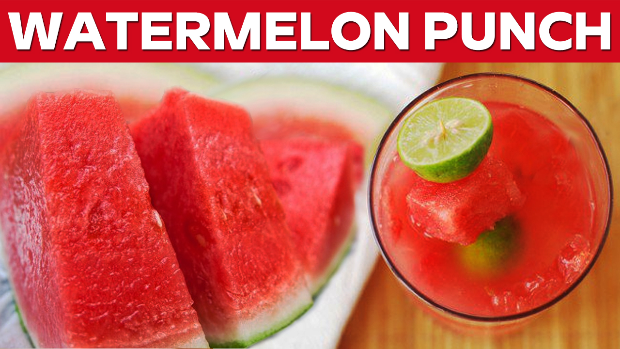 Picture of Watermelon Punch With Fresh Lemon || Natural Cool Drinks